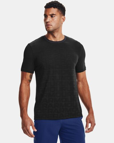 Men's UA Seamless Wordmark Short Sleeve