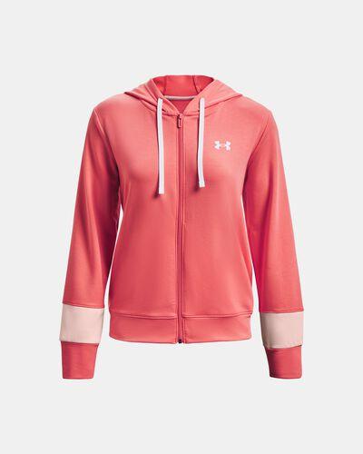 Women's UA Rival Terry Colorblock Full-Zip Hoodie