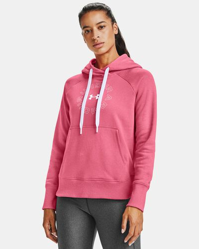 Women's UA Rival Fleece Metallic Hoodie