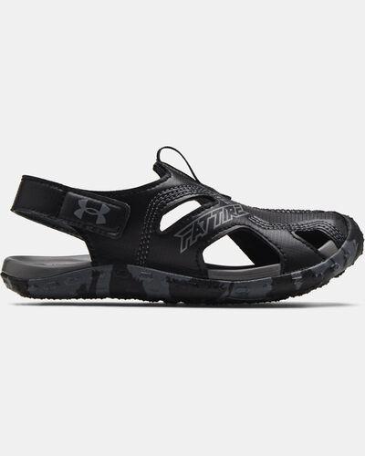 Pre-School UA Fat Tire Defender Sandals
