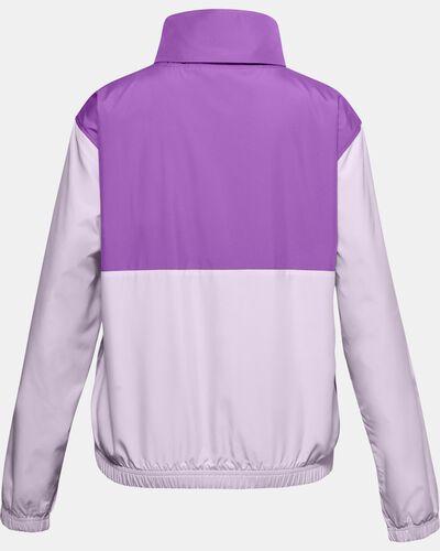 Girls' UA Lined Woven ½ Zip Jacket