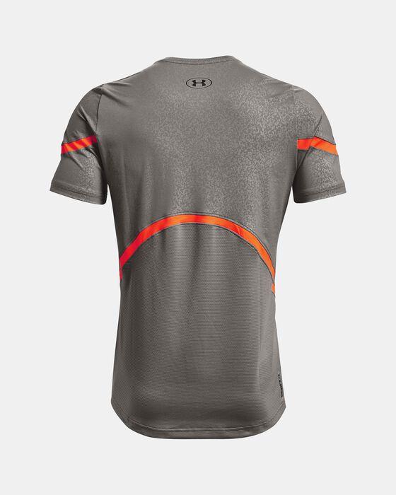 Men's UA RUSH™ HeatGear® 2.0 Emboss Short Sleeve image number 8