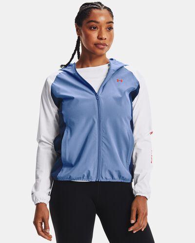 Women's UA Woven Colorblock Wordmark Jacket