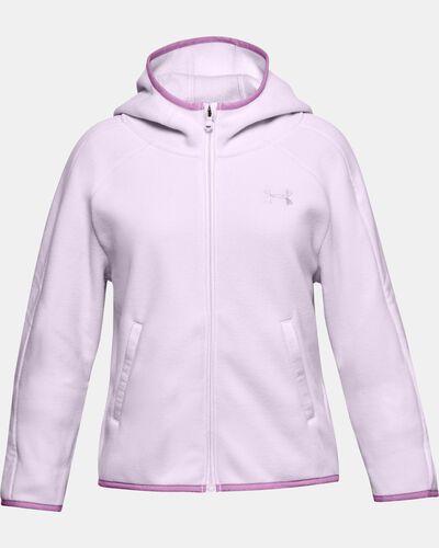 Girls' UA Winter Weight Fleece Full Zip Hoodie