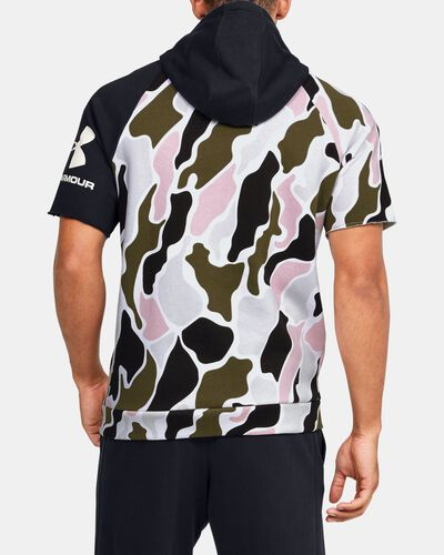 Men's UA Rival Fleece Colorblock Camo Short Sleeve Hoodie