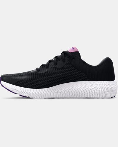 Girls' Grade School UA Charged Pursuit 2 Big Logo Running Shoes