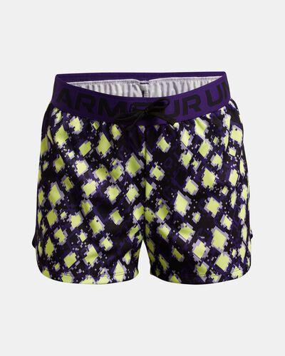 Girls' UA Play Up Printed Shorts