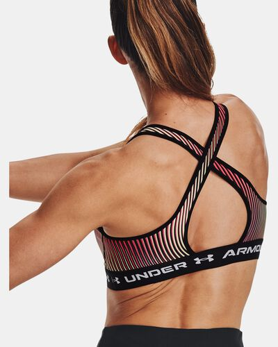 Women's Armour® Mid Crossback Printed Sports Bra