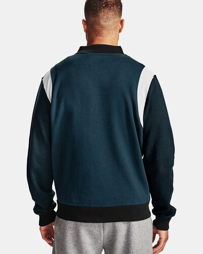 Men's UA Rival Fleece AMP Varsity Bomber Jacket
