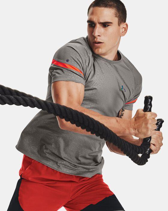 Men's UA RUSH™ HeatGear® 2.0 Emboss Short Sleeve image number 0