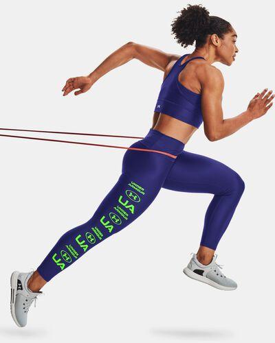 Women's HeatGear® Armour No-Slip Waistband Graphic Ankle Leggings