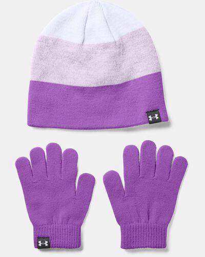Girls' UA Beanie Glove Combo