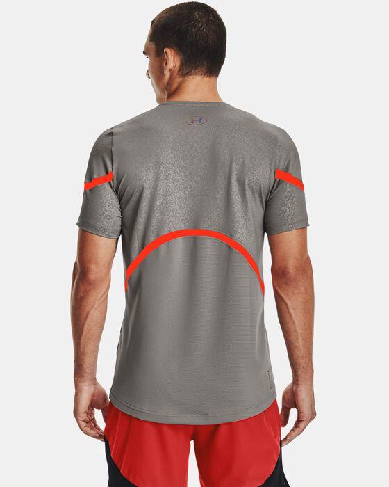 Men's UA RUSH™ HeatGear® 2.0 Emboss Short Sleeve image number 2