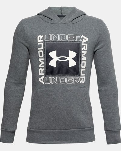 Boys' UA Rival Fleece Box Logo Hoodie