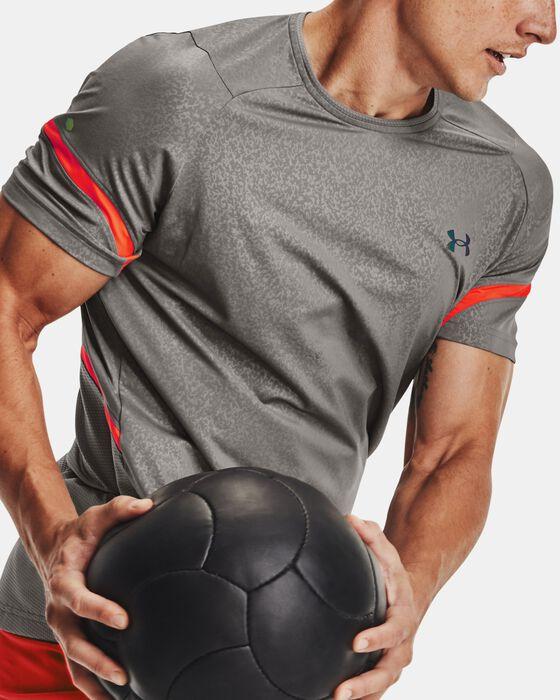 Men's UA RUSH™ HeatGear® 2.0 Emboss Short Sleeve image number 4