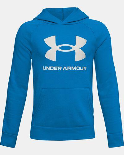 Boys' UA Rival Fleece Big Logo Hoodie