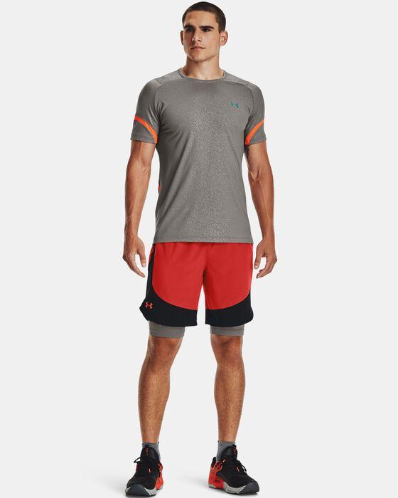 Men's UA RUSH™ HeatGear® 2.0 Emboss Short Sleeve image number 3