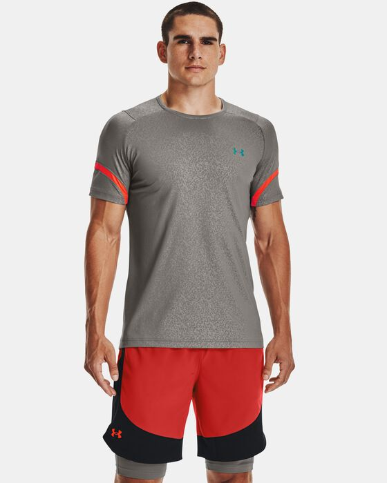 Men's UA RUSH™ HeatGear® 2.0 Emboss Short Sleeve image number 1